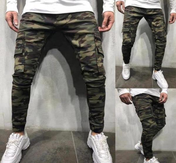 Mens Designer Jeans Autumn Winter High Quality Camouflage Workwear Jeans Hot Street Slim Feet Elastic Luxury Mens Jeans