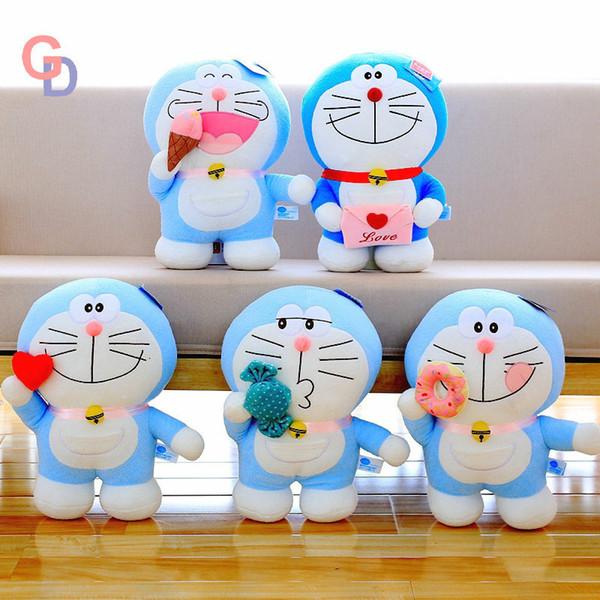 Japan Doraemon Stuffed Toys For Valentine's Day Anime Robert Blue Cat Heart Ice Cream Donut Plush Animal Dolls For Children gift