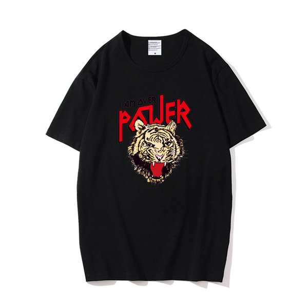 Mens T Shirts Fashion Summer Tops Tees Tshirt White Black Funny Cool Tiger T-shirt For Cheap Sale Y190509