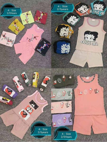 Детские наборы одежды лето мальчик одежда мультфильм Майка жилет для мальчиков наряды малыш мода футболки шорты Детские костюмы