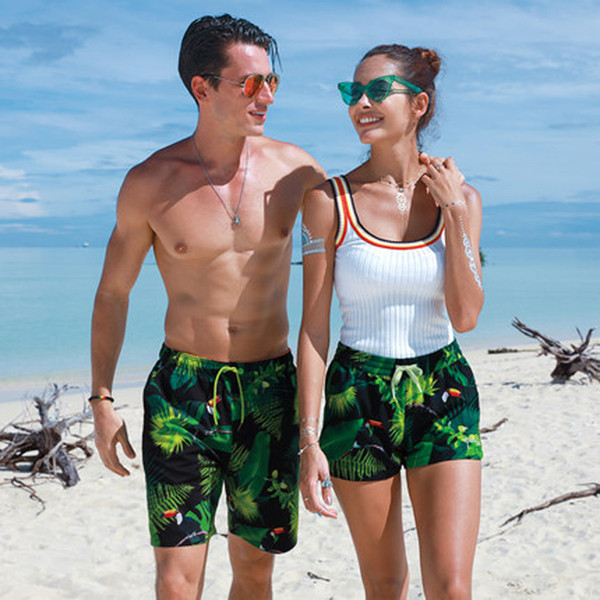 Couple Beach Board Shorts Short de bain homme Bas Course à pied Sports Swim Surf hommes femmes Trunks Boardshort Maillots de bain Maillots de bain