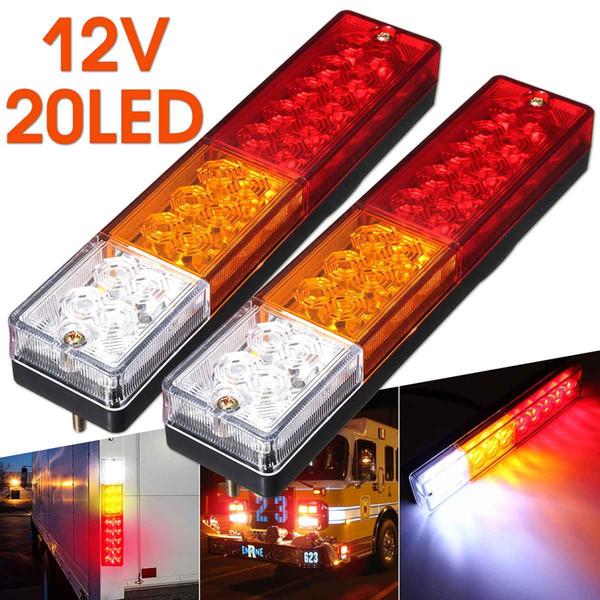 2pcs 12V Caravan Led Trailer Tail Reverse Lights LED Rear Turn Signal Truck Trailer Lorry Stop Rear Tail Indicator Light Lamp