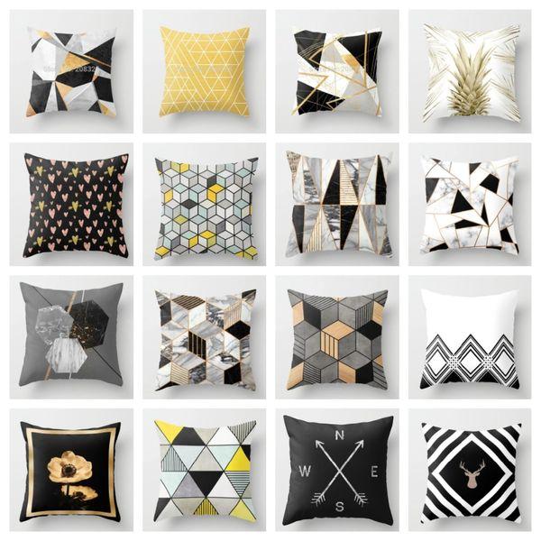ZENGA Geometric Nordic Cushion Cover Decorative Cushion Throw Pillow Cover  Polyester Case Sofa Bed Decorative Pillowcase Patio Furniture Seat Cushions  ...