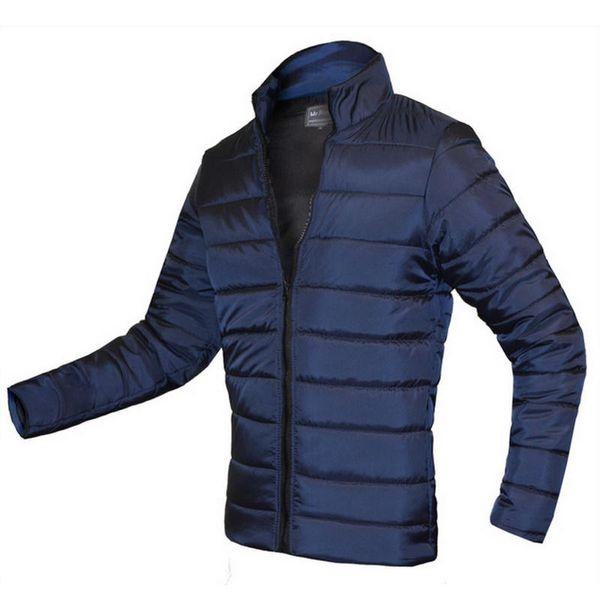 2019 New Winter Jacket Men 100% Cotton Padded Parka Thick Zipper Slim Men Coat Outwear Warm Male Overcoat