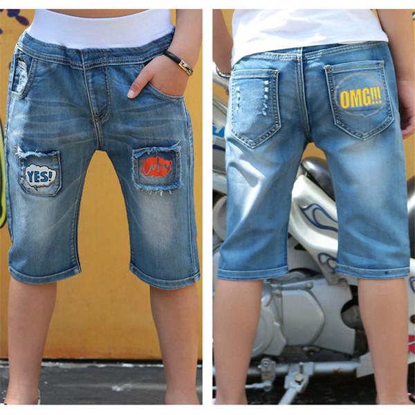 Summer Baby Boys Short Jeans Elastic Waist Casual Denim Pants Children Clothing Trousers Cowboys Toddler Kids Clothes Pants
