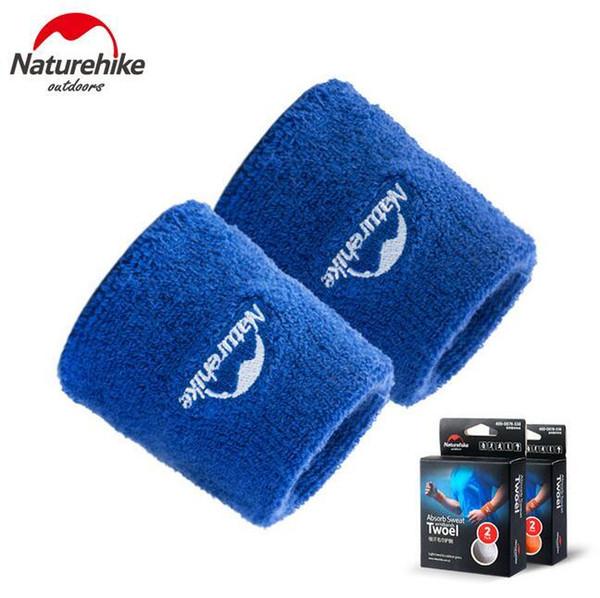 Al por mayor- Naturehike Sports Wristband Unisex Sweat Band Algodón Protector de muñeca Badminton Baloncesto Tenis Gimnasio Correa Sport Muñequera