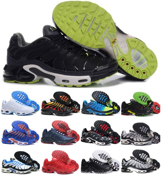 2019 New Designs Classic Original Tn Shoes Fashion Mens Sneakers Breathable Mesh Air Tn Chaussures Maxes Requin Sports Trainers Zapatillaes