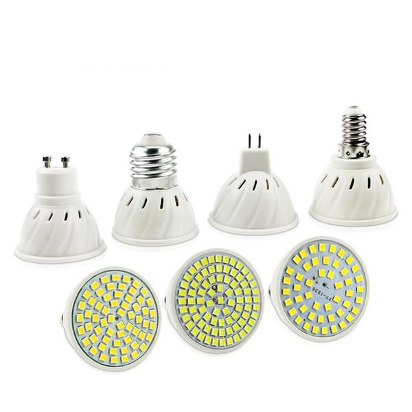 EnwYe E27 E14 MR16 GU10 Lampada LED-Bulb 220V 240V Bombillas LED Lamp Spotlight 48 60 80 LED 2835 SMD Lampara Spot cfl