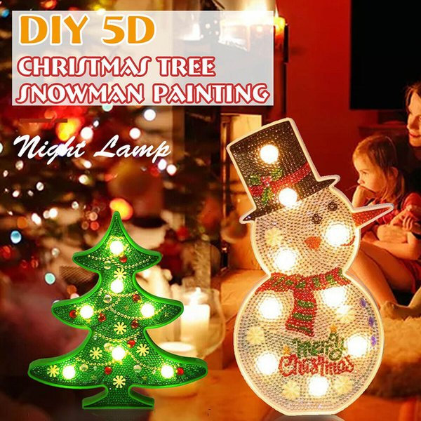 5D Albero di Natale LED Night Light Table Lamp Casa variopinta del partito LKS99 decorazione di DIY