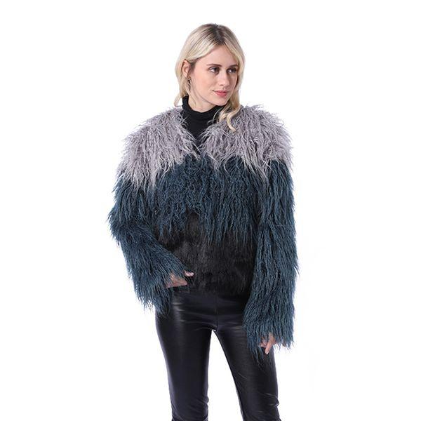 2019 autumn and winter new women's faux fur coat long water velvet  fur grass female coat NV099