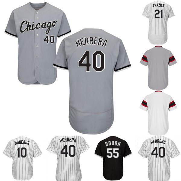Mens Chicago Jersey 74 Eloy Jimenez 40 Kelvin Herrera 10 Yoan Moncada 5 Yolmer Sanchez 49 Ryan Cordell 79 Jose Abreu Baseball Maglie