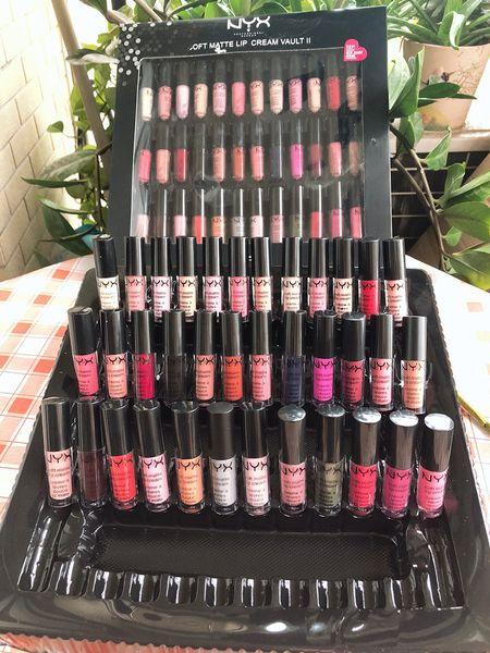 Dropshipping NYX SOFT MATTE LIP CREAM nyx 36PCS Set Lipstick Lip Gloss Matte No Fading lingerie vault 30pc lipgloss