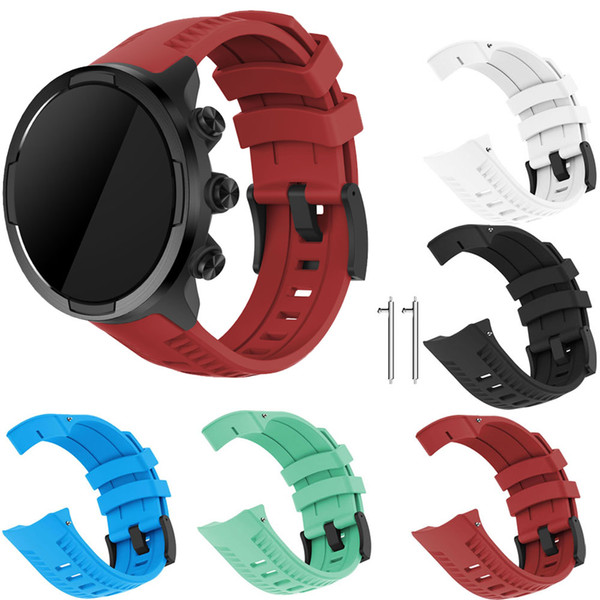 Silicone Replacement Sport Band Strap For Suunto 9 / Spartan Sport Wrist HR Baro / baro wrist Watch Bracelet Strap