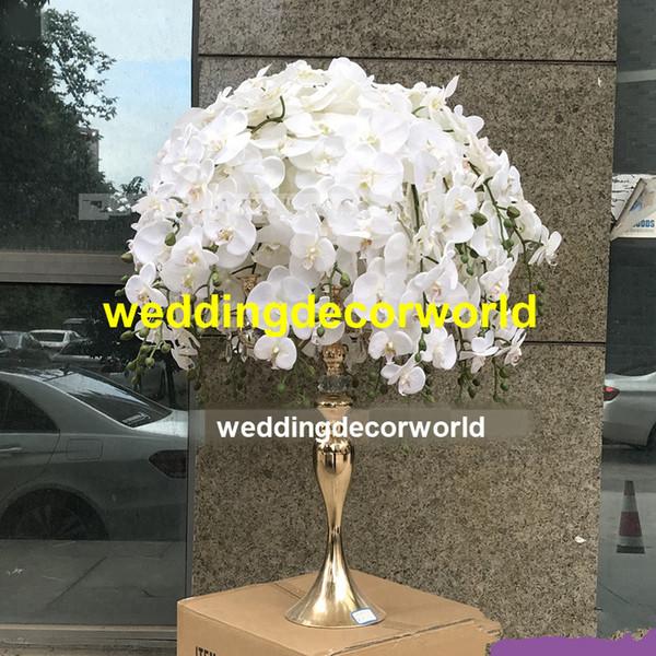 No Flowers Including White Green Silk Rose Hydrangea Plastic Flower Arrangement Wedding Centerpiece Flower Stander Decor611 Cheap Kids Birthday Party