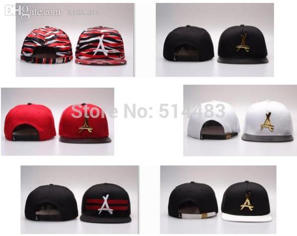 Wholesale-Tha Alumni snapback cap mental leather PU strapback hat 7 colors baseball caps sports hats good deals free shipping