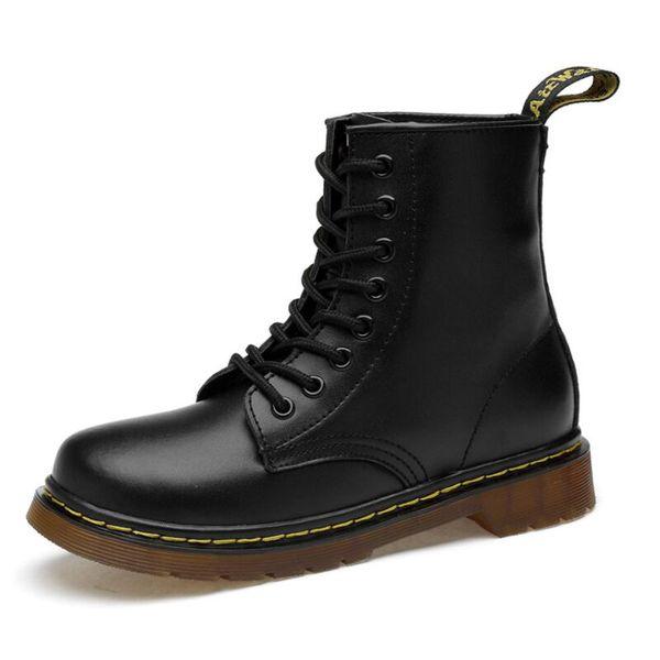 Compre 2019 Nuevos Botines De Cuero Otoño Invierno Moda Para Hombre Botas De Moto Botas De Nieve Para Trabajo Al Aire Libre Zapatos De Hombre A $35.18