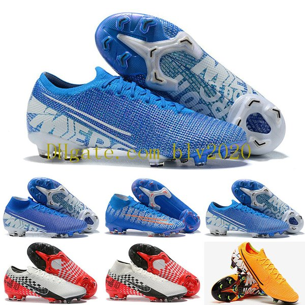 Mercurial Vapors XIII Elite FG Chaussures de Football Neymar Limited Bleu CR7 Shuai Fly tricoter 360 Superfly VII Victory Soccer Crampons 39-45