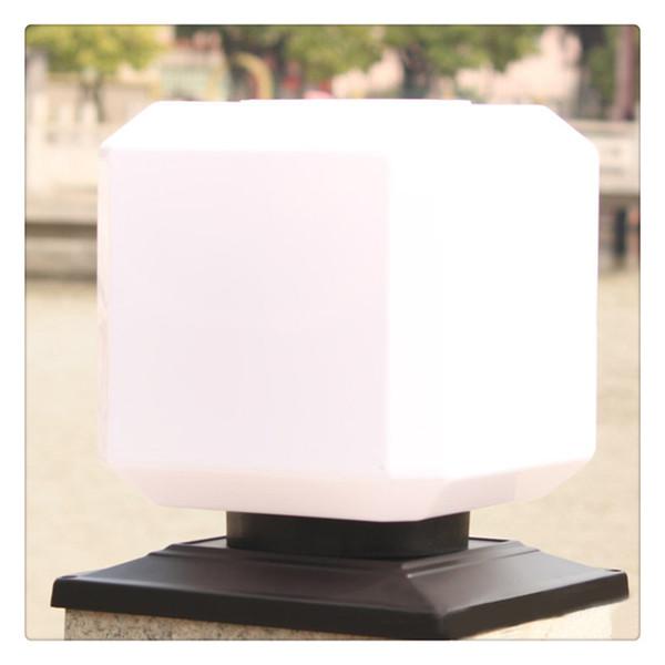 Wall Lamp Home Decor Solar Power Lights Outdoor Square Garden Fence Post Light Waterproof Column Pillar Lantern