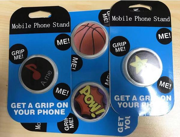 Emballage de vente au détail rotatif à 360 degrés du nouveau support pour téléphone portable multifonctionnel avec coussin d'air rétractable pour homme paresseux