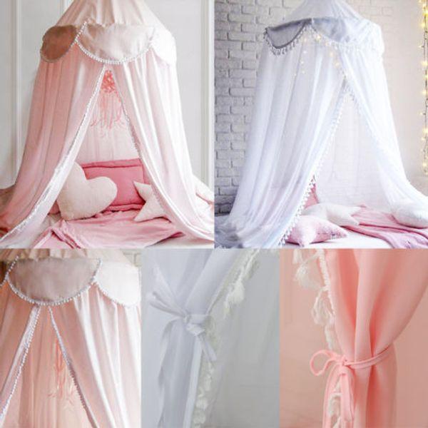 1 pz elegante principessa zanzariera copripiumino maglia rotonda regina baldacchino tenda cupola biancheria da letto principessa chiffon zanzariera copertura