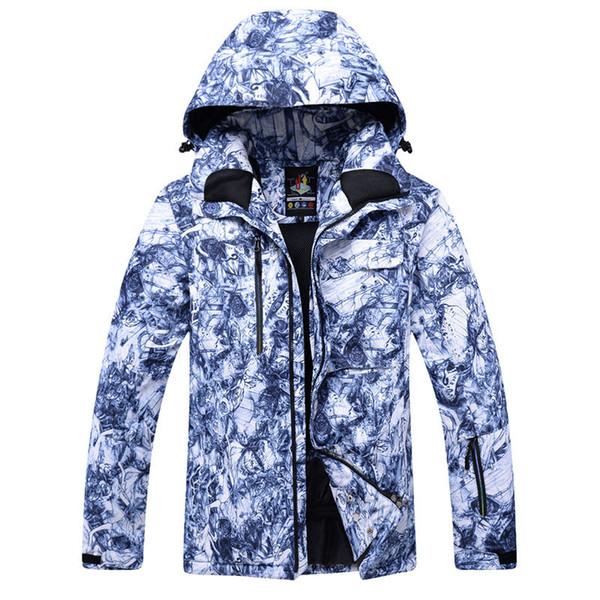 Atacado - 30 Novos mais baratos Homens profissional Snowboard jaquetas roupas de esqui 10K trajes impermeáveis à prova de vento de inverno casacos de neve