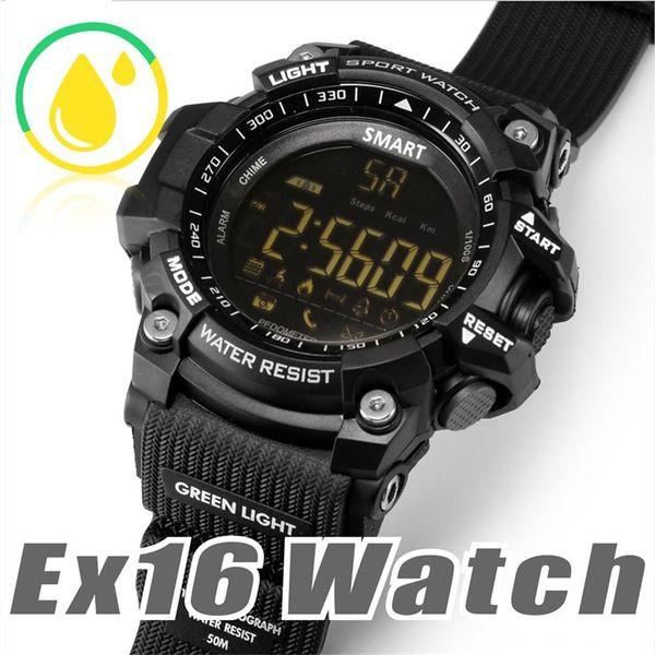 EX16 Sports Smart Watch Bluetooth IP67 Waterproof Remote Camera Fitness Tracker Wearable Technology Running Wristwatch Free Shipping