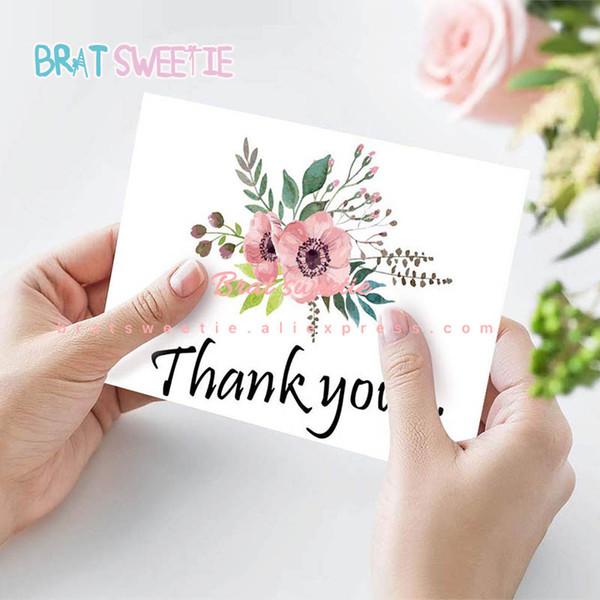 Compre La Flor Floral Le Agradece Las Tarjetas Invitaciones De Boda Tarjetas De Felicitación De Aniversario Con Sobres Suministros Para La Fiesta