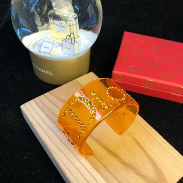 Mujeres damas hembras marca diamantes exagerados abierto cristal punky pulseras de acrílico pulseras pulsera 3 colores envío libre PS6244A