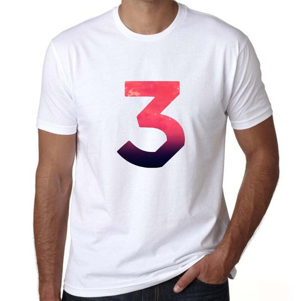Coloring t shirt Chance the rapper 3 short sleeve tees Chano book tops Fadeless print clothing Pure color colorfast modal tshirt