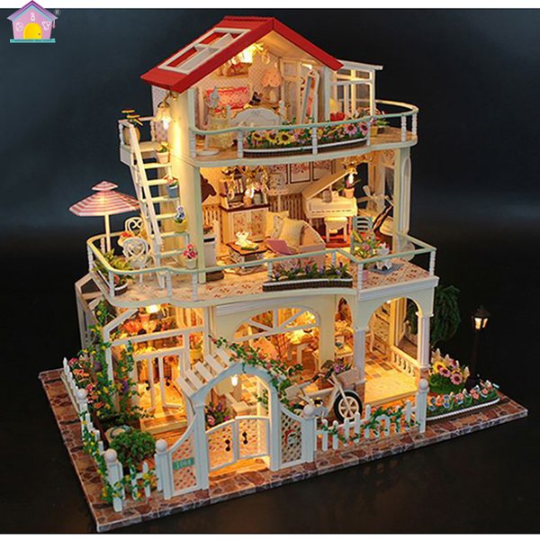 Christmas Dollhouse Decorations.Diy Doll House Christmas Gift Model Toys For Everlasting Light Dollhouse Mini Building Minature Crafts Home Decorations 13845 Visual Novel Game Free