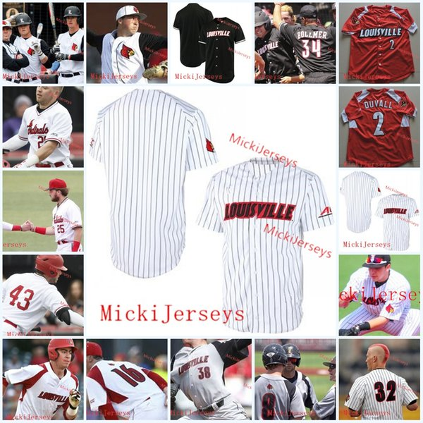 Benutzerdefinierte Louisville Cardinals Baseball-Trikot Tyler Fitzgerald Jake Snider Danny Luney Reid Detmers Nick Bennett Jersey