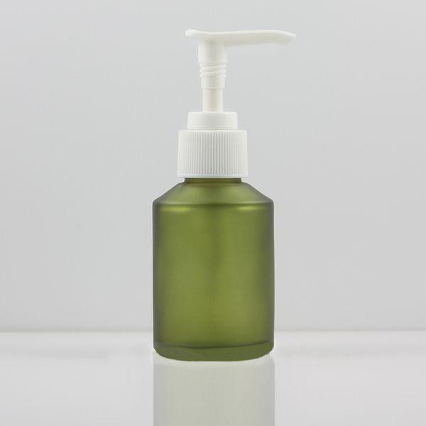 verde esmerilado, con la bomba de blanco