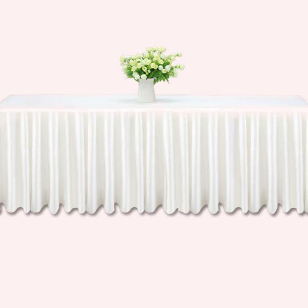 3 м свадебный стол юбки из белого льда шелк свадебный стол юбка ткань украшения