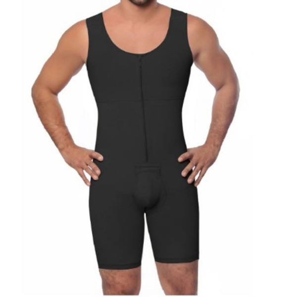Invisible Zipper Front Mens Shaper 2019 New S-6xl Plus Size Strapless Bodysuit Men Shapewear Full Body Shapers For Men Slimming