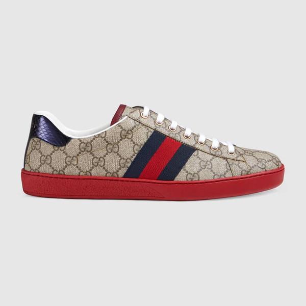 Gucci shoes  Créateurs de mode Hommes Femmes Luxe Bas Rouge Hommes Femmes Mocassins Baskets Mode G Bas Décontracté Plat En Plein Air Zapatillas Chaussures De Conduite