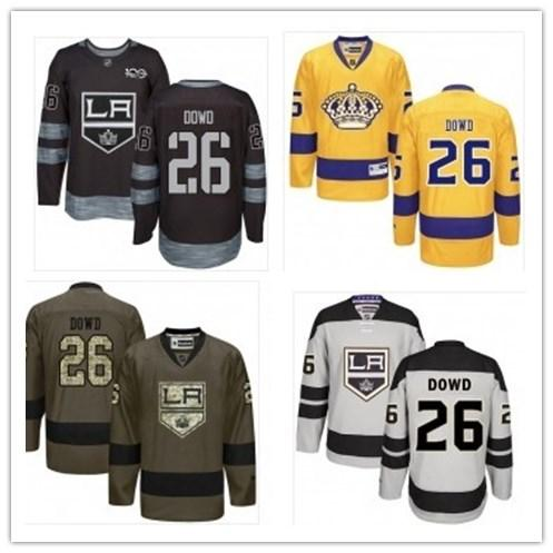 top can Los Angeles Kings Jerseys # 26 Nic Dowd Jersey hombres # MUJER # JOVEN # Béisbol Jersey Majestuoso cosido Ropa deportiva profesional