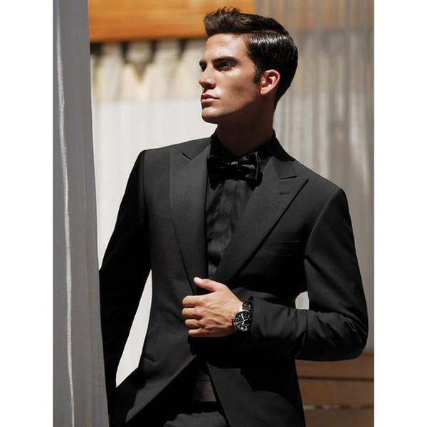 Men's suit two-piece suit (jacket + pants) men's single button gun collar collar suit men's business dress support custom
