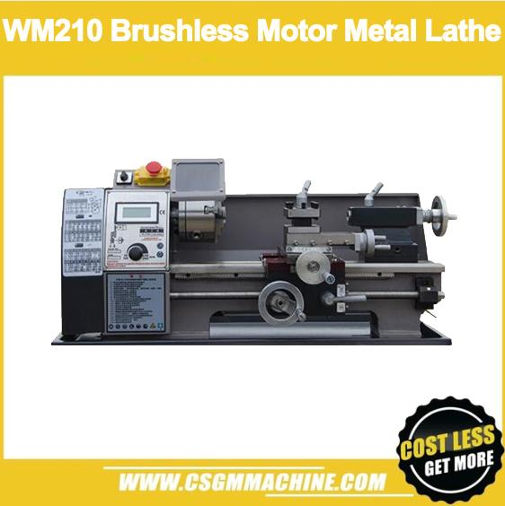 best selling WM210V 850W Brushless Motor Lathe Machine 125MM chuck + 38mm spindle hole + free gift metal lathe