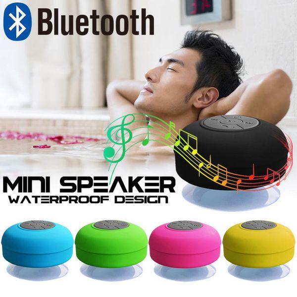 Portable Wireless Bluetooth Speaker Suction Handsfree Mini Waterproof Shower Speaker Micphone Music Player for Car Pool Mobilephone