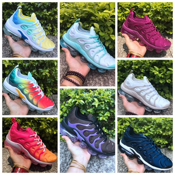 Free Shipping New 2019 TN Plus Mens women Sport Shoe Sneakers Breathable Air Cusion Desinger Casual Running Shoes New Arrival Color US5.5-11