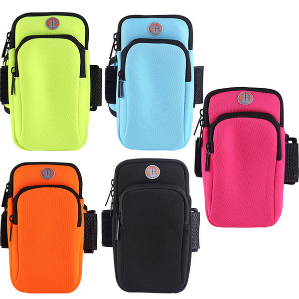 Arm Belt Running Bag Sports Outdoor Jogging Mobile Phone Arm Earphone Hole Money Bags Cuff Telephone For Trail Running