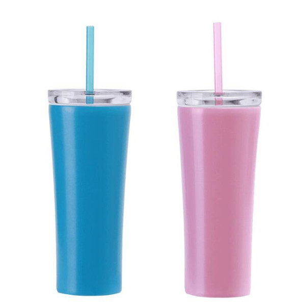 Stainless Steel Tumblers Vacuum Insulated Dazzling Cup with Lid and Straw Double Wall Vacuum Cups Outdoor Water Bottle GGA2360