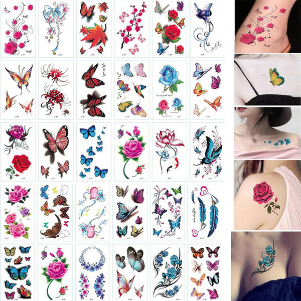Eauty Health 30 Sheet 3d Butterfly Temporary Tattoos Body Art Sticker Flower Letters Cartoon Dog Fake Tattoos Infinity Tattoo For Women Temporary Tribal Tattoo Best Temporary Tattoo From Hao Tattoos 8 57 Dhgate Com