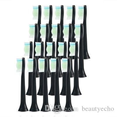 20pcs Best Electric Sonic Replacement Tooth Brush Head For Philips Sonicare Toothbrush Heads Diamondclean Soft Bristles HX6064 +B