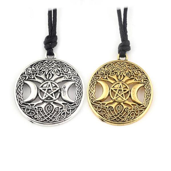 gioielli firmati pirata ciondolo collana albero di vita luna stella a cinque punte collana per le donne moda calda senza spese di spedizione