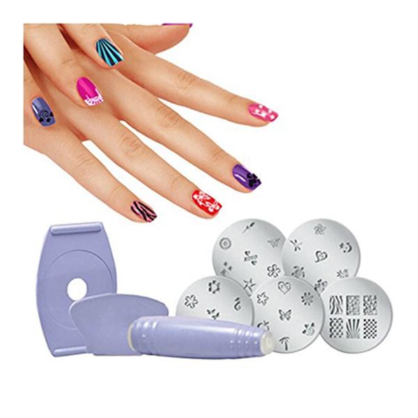 DIY Manicure 1 Set Salon Express Nail Art Polish Stencil Stamping