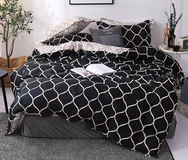Il nuovo letto in tessuto domestico di alta qualità Set di tre pezzi senza lenzuola Copripiumino caldo Federa Stili multipli Twin180 * 220cm Full200 * 230cm