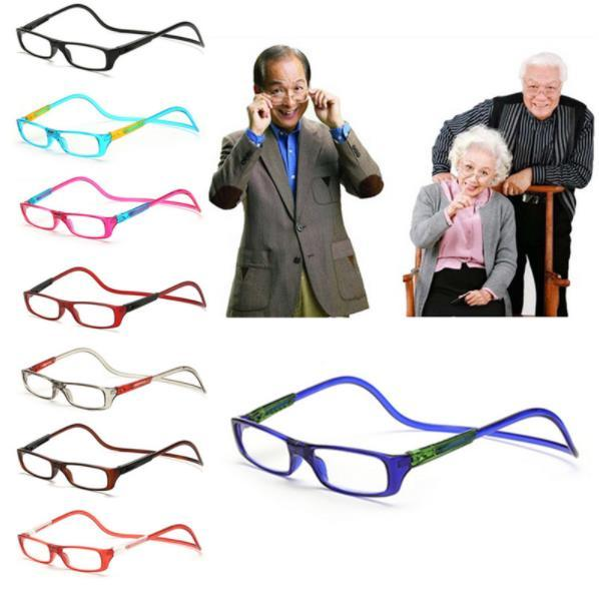 best selling Upgraded Unisex Magnet Reading Glasses Magnet Reading Glasses Adjustable Hanging Neck Presbyopic Glasses Unisex Free Shipping
