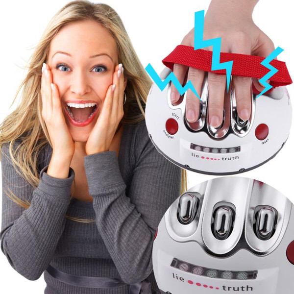 Miniature electric shock lie detector Adults Truth Testing Game Decompression Toy friends gathering party Fun Family Interactive Game