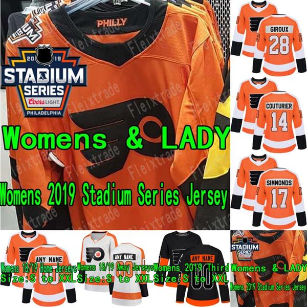 huge discount 371ae 2d7f5 2019 Womens Philadelphia Flyers 2019 Stadium Series Jersey Claude Giroux  Brian Elliott Sean Couturier Carter Hart Travis Konecny Wayne Simmonds From  ...